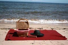 Piquenique da praia Fotografia de Stock