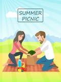 Piquenique E r Férias de verão Piquenique da família Imagens de Stock