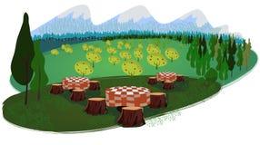 Piquenique no parque nacional Imagens de Stock