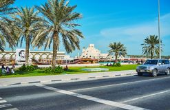 Piqueniques no passeio de Corniche, Doha, Catar Fotos de Stock
