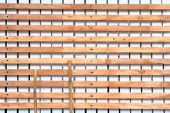 Piquet blanc en bois Photo stock