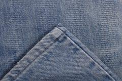 Piquez et cousez l'habillement pour la jambe des jeans pour le modèle photos libres de droits