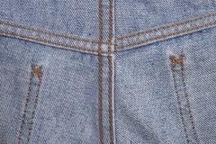 Piquez et cousez l'habillement pour la jambe des jeans pour le modèle images libres de droits