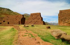 Piquillacta or Pikillacta, a well preserved Pre-Inca archaeological site in the South Valley, Cusco. Peru stock image