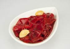 Piquillo peppers into strips Stock Image