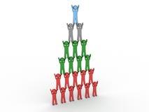 pirámide 3d de la gente Foto de archivo