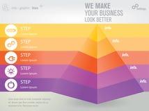 Pirámide abstracta stock de ilustración