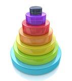 pirámide acodada 3d Imagen de archivo libre de regalías