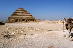 Pirámide antigua del paso de progresión de Djoser (Zoser) Fotografía de archivo libre de regalías