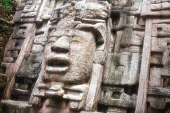 Pirámide Bellize del templo de Lamanai Imágenes de archivo libres de regalías