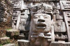 Pirámide Bellize del templo de Lamanai foto de archivo libre de regalías