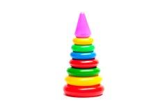 Pirámide coloreada del juguete Fotos de archivo libres de regalías