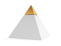 Pirámide con el casquillo de oro Foto de archivo