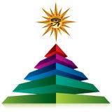 Pirámide con el ojo de dios Foto de archivo libre de regalías