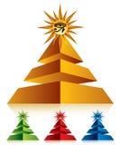 Pirámide con el ojo del Ra Fotografía de archivo libre de regalías