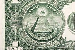 Pirámide de Bill de dólar Fotos de archivo libres de regalías