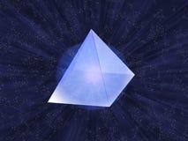 Pirámide de cristal Stock de ilustración