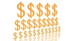 Pirámide de dólares cada vez mayor Fotografía de archivo libre de regalías