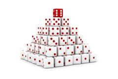 Pirámide de dados Fotos de archivo