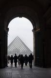 Pirámide de la arcada y de la lumbrera imágenes de archivo libres de regalías