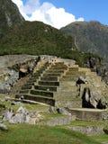 Pirámide de la cascada en Machu Picchu Fotos de archivo libres de regalías