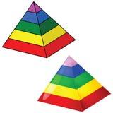 pirámide de la Cinco-grada Imágenes de archivo libres de regalías