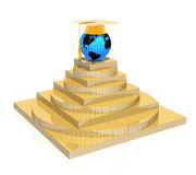 Pirámide de la educación ilustración del vector