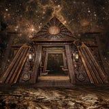 Pirámide de la fantasía en la noche Fotos de archivo libres de regalías