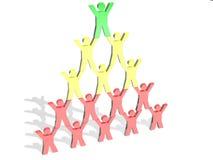 Pirámide de la gente Foto de archivo libre de regalías