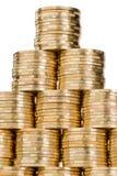 Pirámide de la moneda Imágenes de archivo libres de regalías