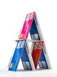Pirámide de la tarjeta de crédito Imágenes de archivo libres de regalías