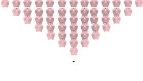 Pirámide de las actividades bancarias ilustración del vector