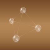 Pirámide de las bolas stock de ilustración