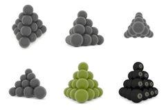 Pirámide de las bolas de metal Fotos de archivo libres de regalías