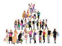 Pirámide de las compras imagenes de archivo