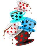 Pirámide de las tazas de té Imagen de archivo libre de regalías