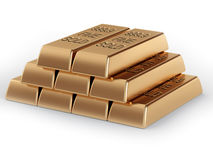 Pirámide de lingotes de oro Fotografía de archivo libre de regalías