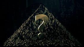 Pirámide de los signos de interrogación libre illustration