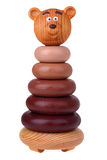 Pirámide de madera del oso del juguete Fotografía de archivo