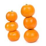 Pirámide de mandarines. Fotos de archivo libres de regalías