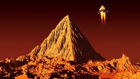 Pirámide de Marsian Fotografía de archivo