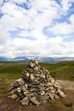 Pirámide de piedra, Noruega Foto de archivo libre de regalías