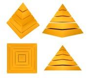 Pirámide de Splitted Imágenes de archivo libres de regalías