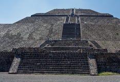 Pirámide de The Sun Teotihuacan Foto de archivo