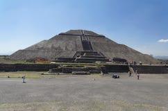 Pirámide de Teotihuacan de The Sun Foto de archivo