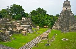 Pirámide de Tikal en Guatemala Imagen de archivo