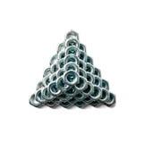 Pirámide de tuercas en la visión superior Imagen de archivo libre de regalías