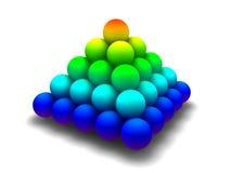 Pirámide del arco iris ilustración del vector