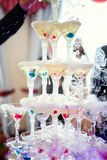 Pirámide del champán Foto de archivo