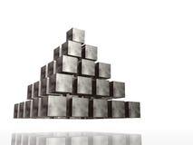 Pirámide del cromo Imágenes de archivo libres de regalías